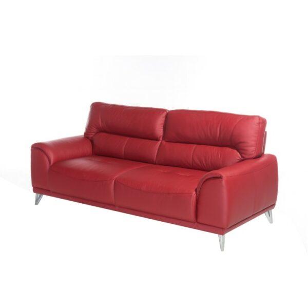 Kvalitné sedacie súpravy  | Materiál: koža Pampas Rot
