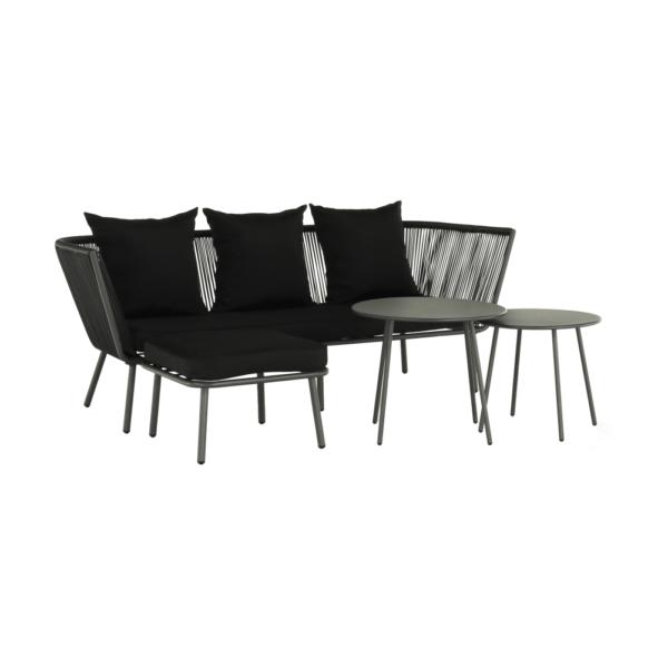 Kvalitné záhradné sedenie    Materiál: umelý ratan/oceľ/kov/látka