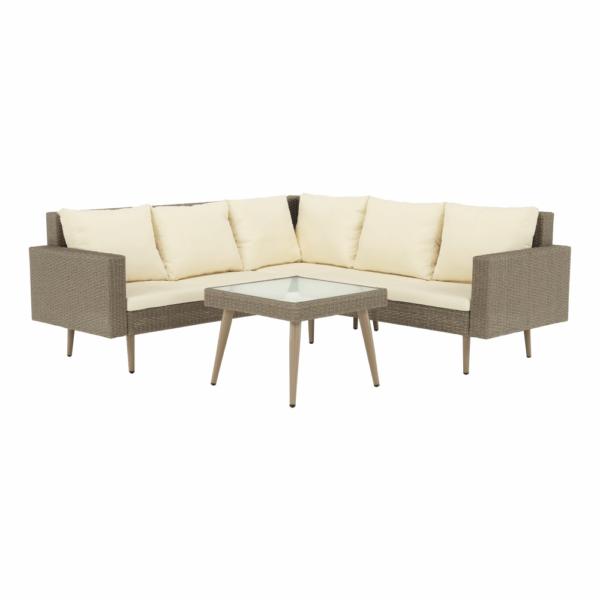 Kvalitné záhradné sedenie  | Materiál: umelý ratan/tvrdené sklo/látka/oceľ