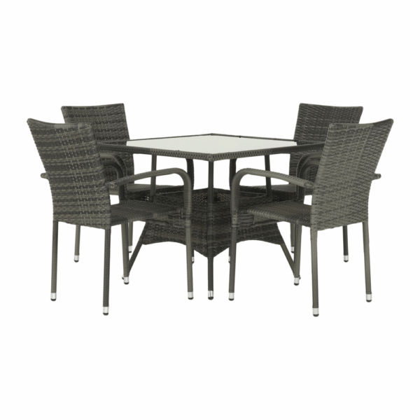 Kvalitné záhradné sedenie    Materiál stôl: umelý ratan/oceľ/tvrdené sklo