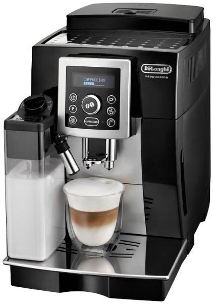 Značkový kávovar DeLonghi  | KÁVOVAR.  Vstúpte do nového dňa s čerstvo pripravenou kávou v perfektnom DéLonghi ECAM 23.463 B. Vyniká predovšetkým svojím štýlovým dizajnom a jednoduchým ovládaním