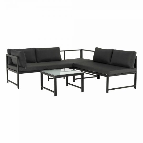 Kvalitné záhradné sedenie  | Materiál: látka/kov/tvrdené sklo/pena