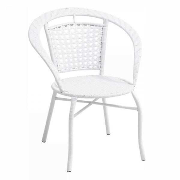 Záhradné stoličky a kreslá   Materiál: umelý ratan/oceľ