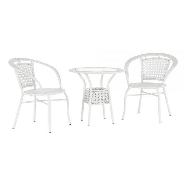 Kvalitné záhradné sedenie    Materiál: umelý ratan/oceľ/tvrdené sklo