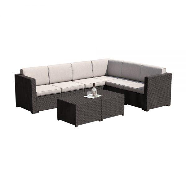 Kvalitné záhradné sedenie    Materiál: umelý ratan/látka/pena