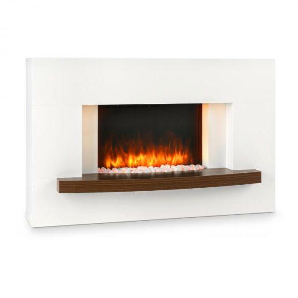Elektrický krb    Krbová romantika po celý rok:  elektrický krb Klarstein  Montreux vykúzli skutočné plamene bez ohňa alebo dymu v každej miestnosti. Jemné svetlo klamlivo napodobňuje skutočné plamene a tlejúce polená a okamžite šíri útulnú atmosféru domova