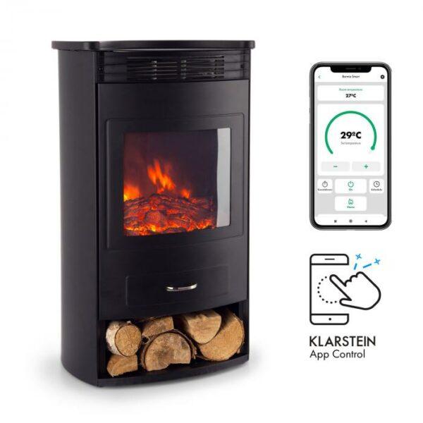 romantickú atmosféru.Voliteľne zapínateľné vyhrievanie ponúka výkon 950 alebo 1900 W. Vstavaný termostat meria aktuálnu teplotu v miestnosti