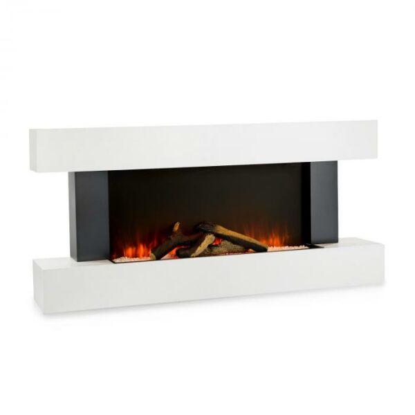 klamlivo reálne vyzerajúcimi keramickými polenami je ilúzia plameňa naozaj pôsobivá. Zvláštnosťou krbu Light & Fire je jeho jedinečný dizajn: elegantná biela