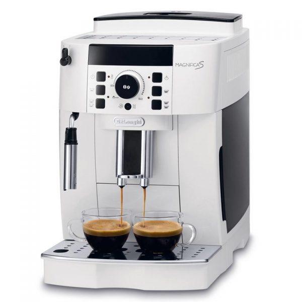 Značkový kávovar DeLonghi    ESPRESSO KÁVOVAR .  Nerezová tryska na napenenie mlieka pre krémovú penu .  Použiť je možné zrnkovú aj mletú kávu .  Nový tichý zabudovaný mlynček s možnosťou nastavenia hrubosti mletia (13 možností) .  Pripraviť je možné 2
