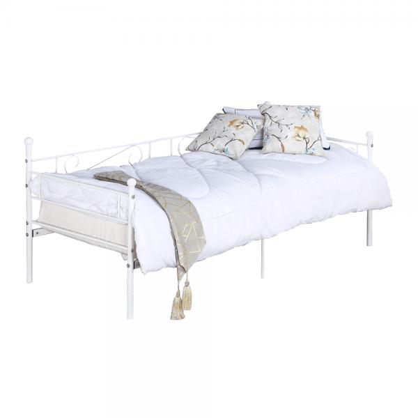 Kvalitné a moderné pohovky  | Kovová  posteľ s kovovým roštom