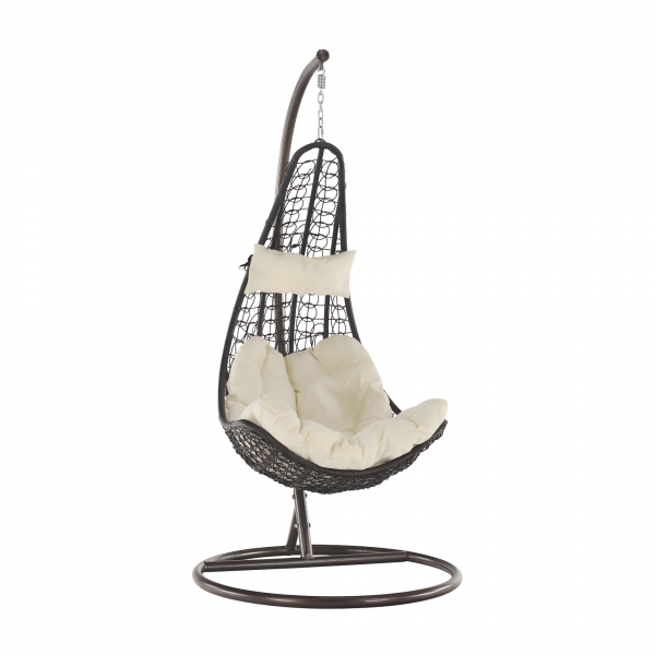 Kvalitné záhradné sedenie    Materiál: oceľ/látka/umelý ratan