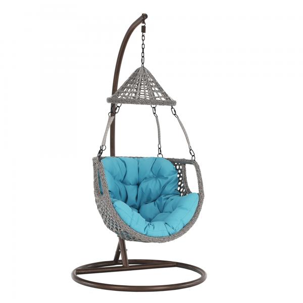 Kvalitné záhradné sedenie    Materiál: oceľ/umelý ratan